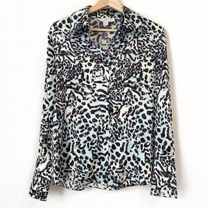St. John Collection by Marie Gray Silk Blouse M